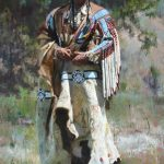 D. Edward Kucera, His Stately Attire, oil, 40 x 26.