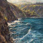 James McGrew, Honolua Bay Shimmer, oil, 20 x 16.