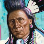 Blake Neubert, Blackfoot Chief, oil, 36 x 24.