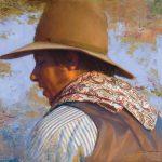 D. Edward Kucera, Paisley Bandana, oil, 16 x 20.