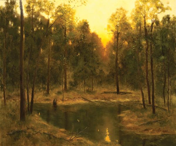 Deborah Paris, A Summer Idyll, oil, 20 x 24.
