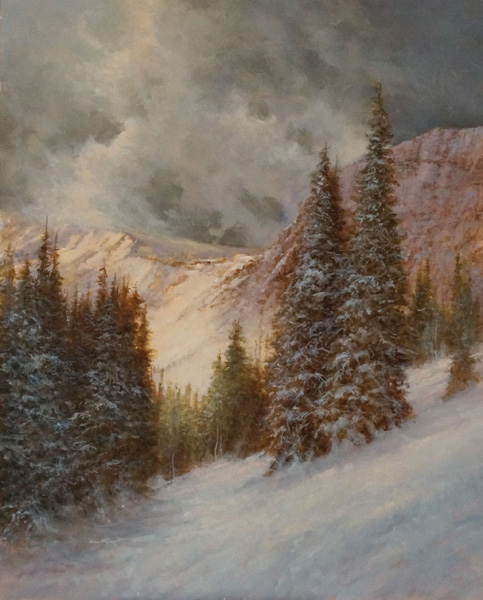 Pem Dunn, Approaching Storm, oil, 20 x 16.
