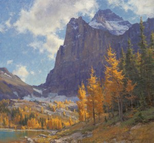 Clyde Aspevig, Larch Below Mt. Biddle, oil, 28 x 30.