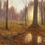 Deborah Paris, Autumn Sunrise, oil, 18 x 24.