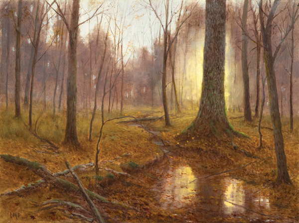 Deborah Paris, Autumn Sunrise, oil, 18 x 24.