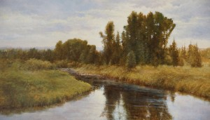 Pem Dunn, Banks of the Colorado, oil, 18 x 30.