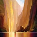 Charles Pabst, Canyon Radiance, oil, 60 x 48.