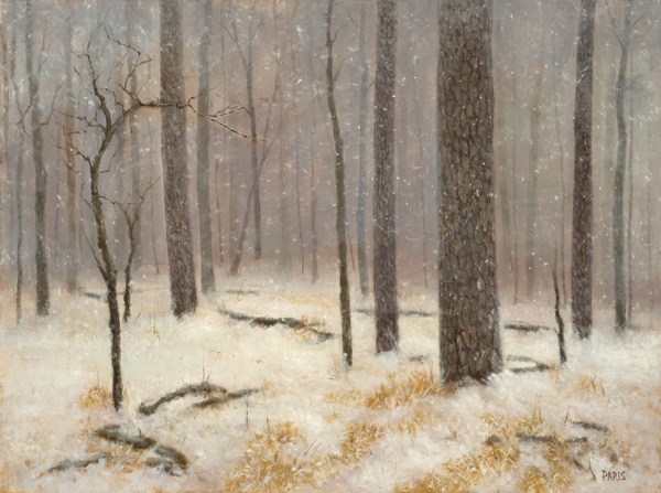 Deborah Paris, First Snow, oil, 18 x 24.