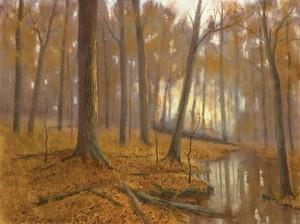 Deborah Paris, The Forest Primeval (study), oil, 18 x 24.