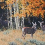 Lindsay Scott, Edge of the Woods, oil, 28 x 42. (wildlife show)