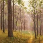 Deborah Paris, Mayapples, oil, 30 x 24.