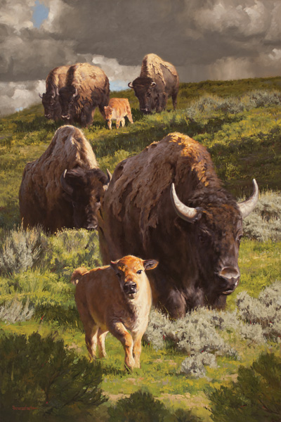Dustin Van Wechel, Plainsman Prince, oil, 60 x 40.