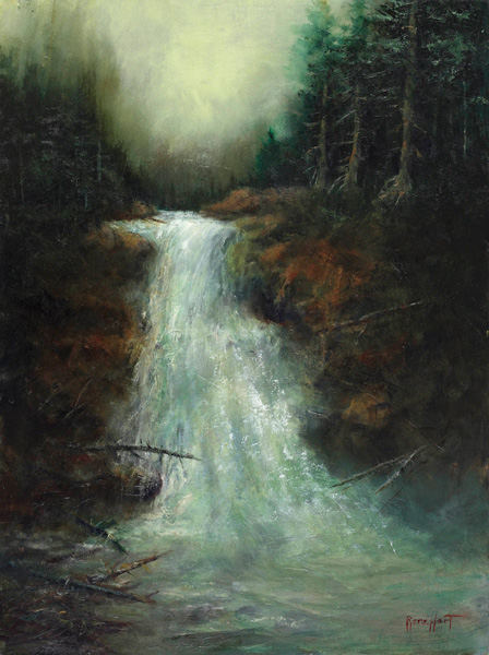Rene Hart, Silver Falls, oil, 24 x 18.