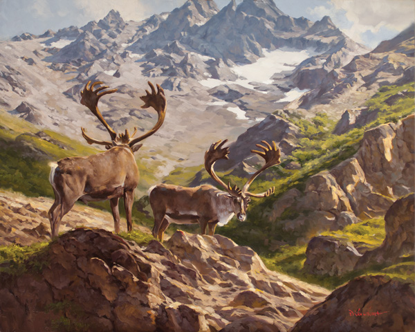 Dustin Van Wechel, Through the Mountain Pass, oil, 24 x 30.
