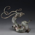 Timothy Nimmo, Awakening Buck, Bronze, 13 x 16 x 9.