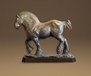 Jordan Abernethy, Poseidon, bronze, 20 x 24 x 9.