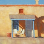 Rodgers Naylor, Patio Chairs, oil, 20 x 20.