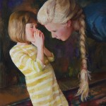 Linda Tracey Brandon, Whispering, oil, 16 x 12.