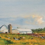 Andy Evansen, Late Summer Farm, watercolor, 11 x 15.