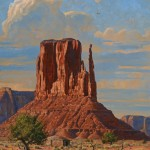 Robert Peters, Arizona Giant, oil, 50 x 40.
