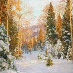 Aleksander Titovets, Tapestry of Sunlight, oil, 30 x 40.
