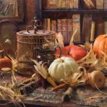 Daniel Keys, Autumn Interior, oil, 30 x 40.