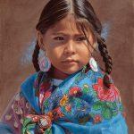 Ann Hanson, Flower Girl, oil, 12 x 9.