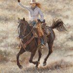 Ann Hanson, Go Girl, oil, 20 x 16.