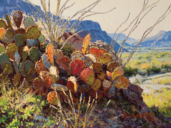 Mark Haworth, Rio Bravo Kaleidoscope, oil, 9 x 12.