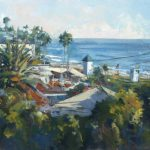 Anthony Salvo, View From Cliff Drive, Laguna Beach, oil, 12 x 24.