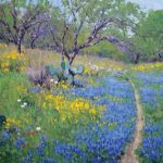 Noe Perez, Spring Flowers, oil, 16 x 24.
