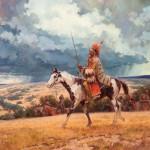 Roy Andersen, High Plains Thunder, oil, 40 x 48. Estimate: $50,000-$75,000.