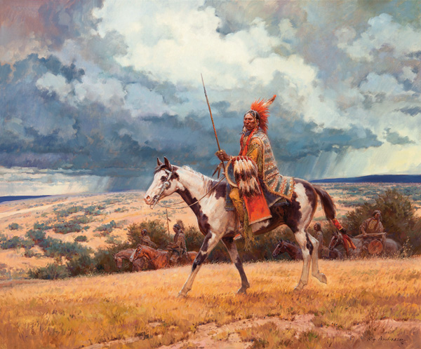 Roy Andersen, High Plains Thunder, oil, 40 x 48. Estimate: $50,000-$75,000.