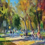 Ken Valastro, Around the Park, oil, 36 x 48.