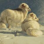 Greg Beecham, Arctic Companions, oil, 16 x 20.