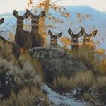 Greg Beecham, Watching the Watchers, oil, 24 x 26.