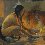 Eanger Irving Couse, The Cornhusker, oil, 8 x 10. Estimate: $25,000-35,000.