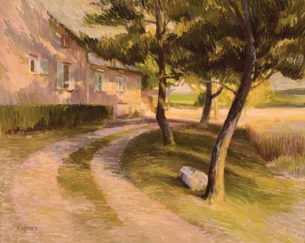 Valerie Collymore, Chez Eliette in Aix-en-Provence, oil, 24 x 30.