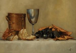Erin Schulz, Fall Picnic, oil, 14 x 20.