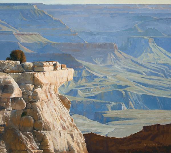 Jake Gaedtke, A Grand Mornin, oil, 18 x 20.