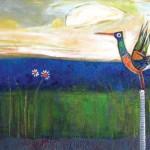Nicole St-Pierre, La Sentinelle (The Sentinel), acrylic, 18 x 24.