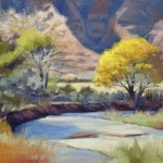 Jimmy Longacre, Zion Creek Bend, oil, 11 x 14.