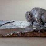 Ross Matteson, Ice Breaker Maquette, bronze, 3.5 x 13 x 3.5.