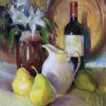 Valerie Collymore, Mediterranean Morning Still Life, oil, 24 x 20.