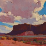 Glenn Dean, Mesa and Clouds, oil, 9 x 12.