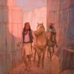 Kenneth Riley, Shadow Canyon, oil, 17 x 15. Estimate: $30,000-$40,000.