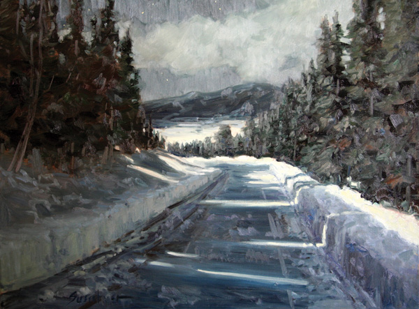 Susiehyer, The Road Home Nightfall, oil, 18 x 24.