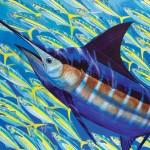 Guy Harvey, Blue Runner, acrylic, 40 x 50.