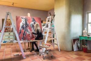 Ethelinda at her studio in Santa Fe, NM.