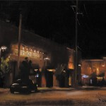 John P. Lasater, Lights of Brady Street, oil, 14 x 18.